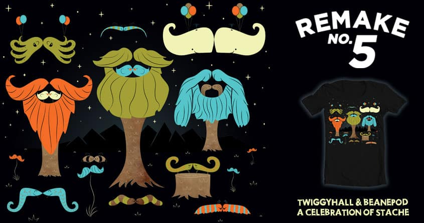 The Enchanted Forest of Stache: Night #2 by BeanePod and Twiggyhall on Threadless