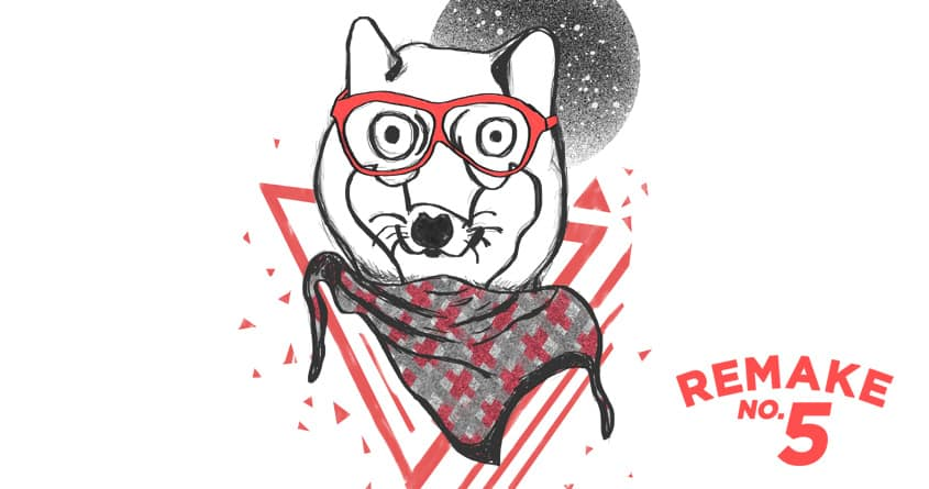 Hipster Wolf is Hipster 2 by ilyya and viograpiks on Threadless