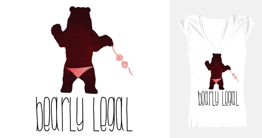 bearly legal. by lemmingway on Threadless