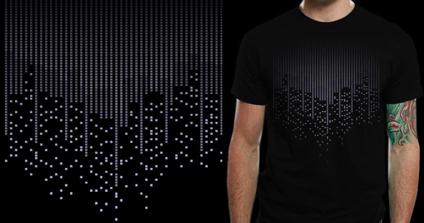 city pixels by boostr29 on Threadless