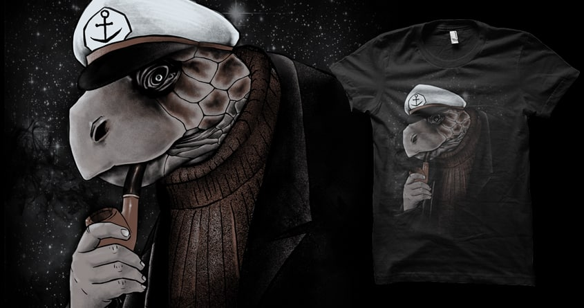 turtlenecked Seacaptain by biotwist and barmalisiRTB on Threadless
