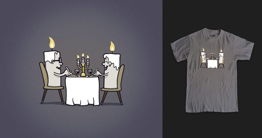 Candlelight Dinner by davidfromdallas and DaJordo on Threadless