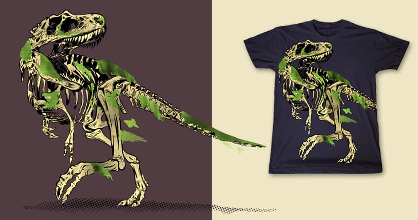 skinned T rex by mainial on Threadless