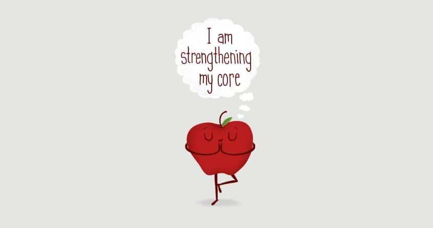 Apple Core Workout by murraymullet on Threadless