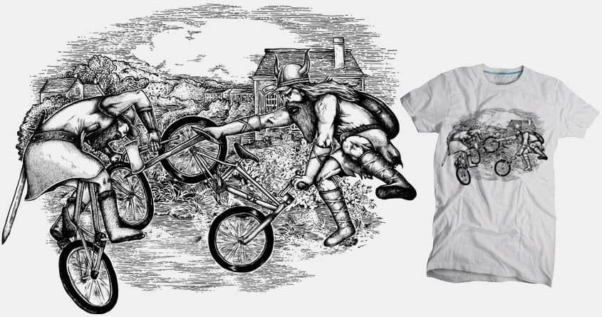 Biking Vikings by Raulio on Threadless