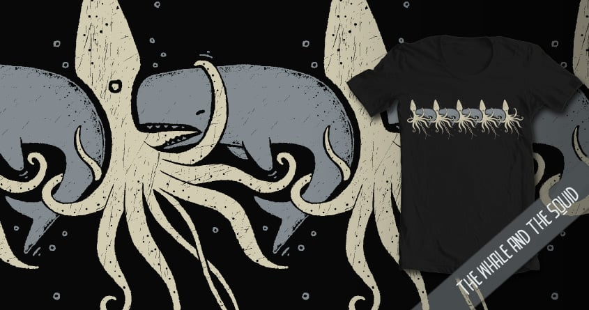 The Whale and the Squid by walmazan on Threadless