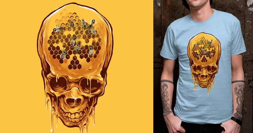 skull of honey by zakiihamdanii on Threadless