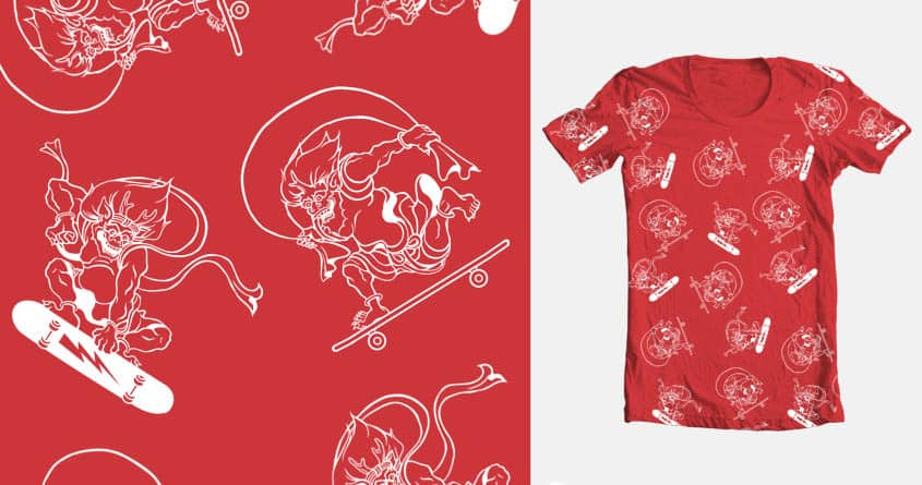 Fujin&Laijin8 by eijitoida on Threadless