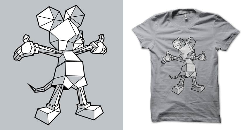 Origamey Mouse by MEKAZOO on Threadless