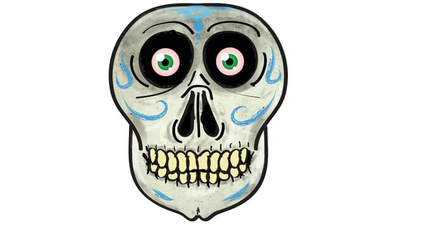 Party Skull by SnickerMitz22 on Threadless