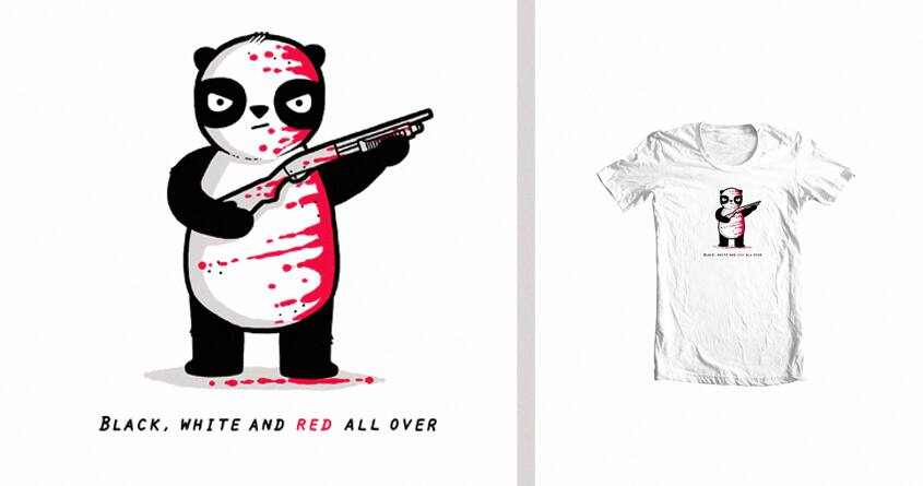 Black, red and white by randyotter3000 on Threadless