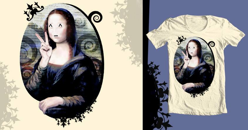 Mona Lisa's ^_^ by galehaut on Threadless