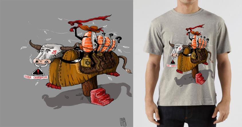Dumb Sushi and Rodeo by Hans Christian Japutra on Threadless