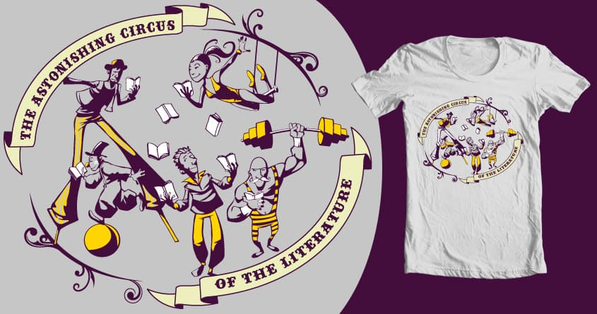 the circus of the literature by spike00 on Threadless