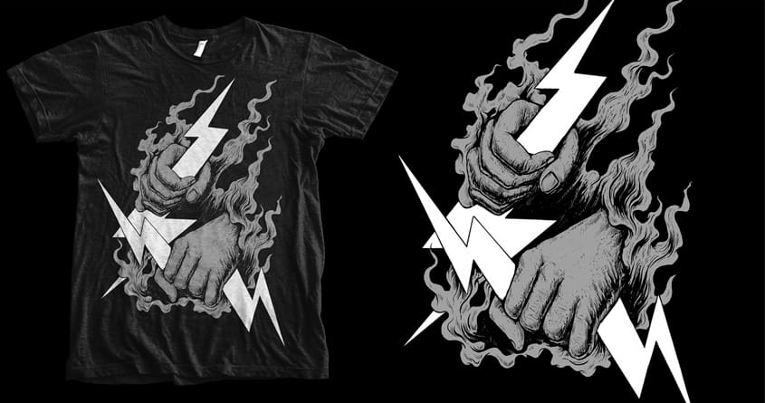 Catching Thunder by d4dlight on Threadless