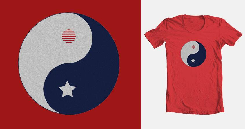 Ying Yang Flag by sadie_67 on Threadless
