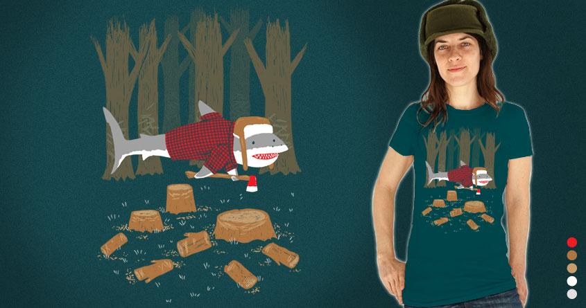 The Lumberjack Shark by nickv47 on Threadless