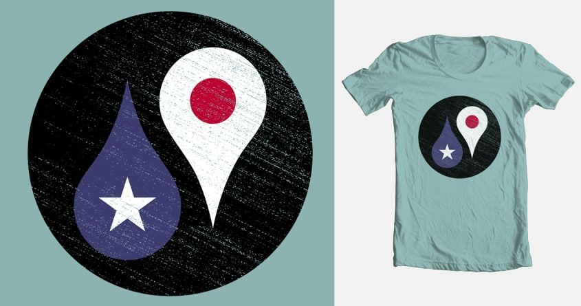Yin-Yang Map by Anise on Threadless