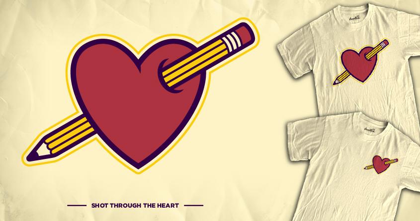 Shot Through The Heart by WanderingBert on Threadless