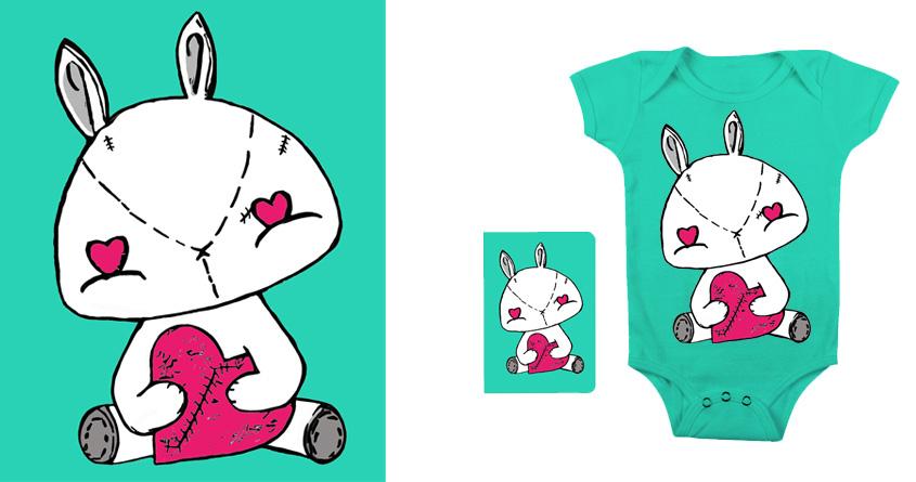 Bunny Heart  by tamarakraft on Threadless