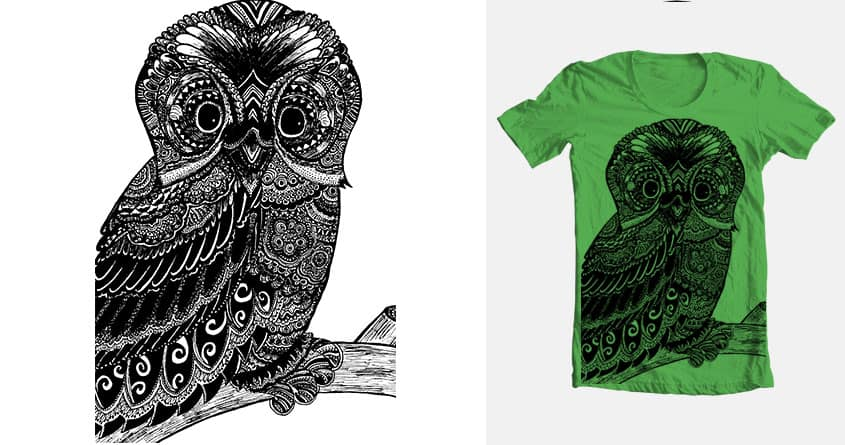 Peculiar Owl by ToriFerguson on Threadless