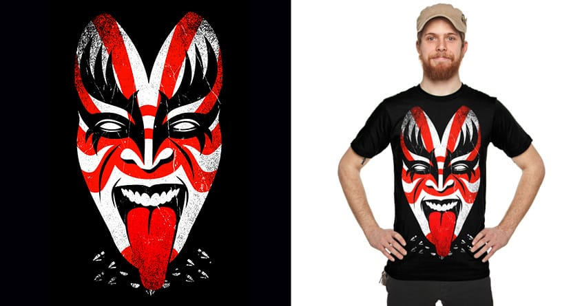 Kabuki's Kiss by Joe Conde on Threadless