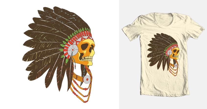 Apache Skull by Gustsvo Sá on Threadless