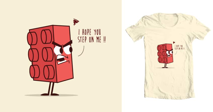 Angry Lego by weird&co on Threadless