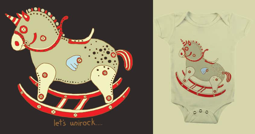 rocking unicorn  by aliens3 on Threadless