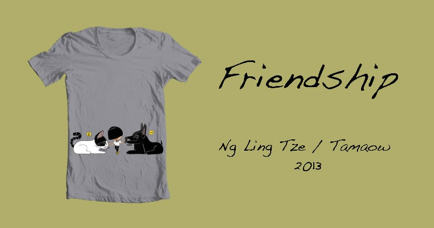 Friendship by tamaow on Threadless