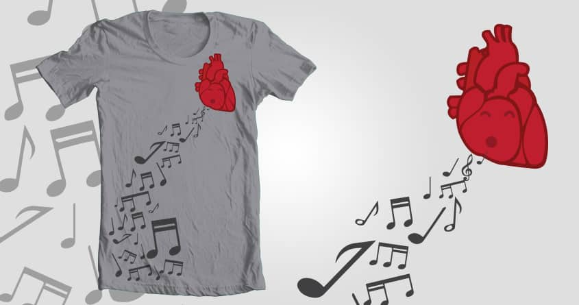 Music comes from the heart by sr.gianluca on Threadless