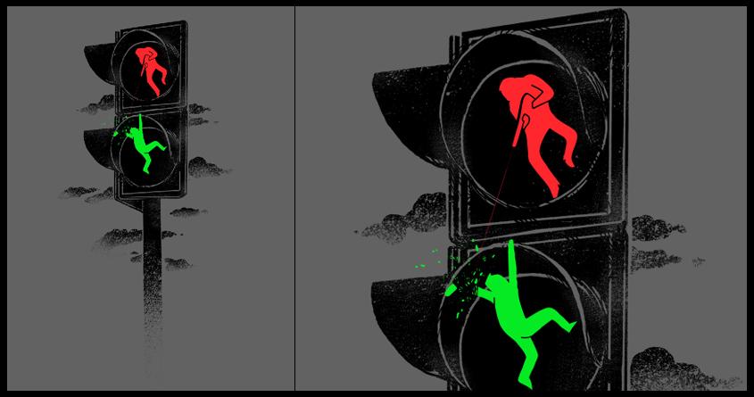 The Green Man Walking Dead by anwarrafiee on Threadless