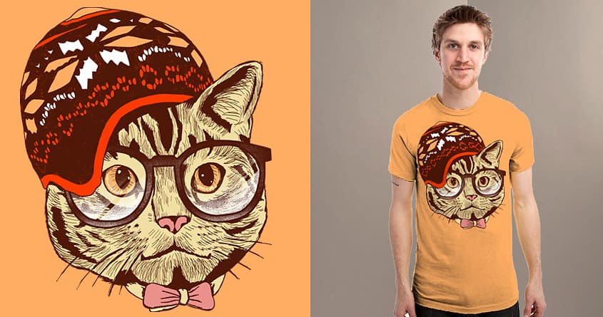 Hipster Cat by shesmatilda on Threadless