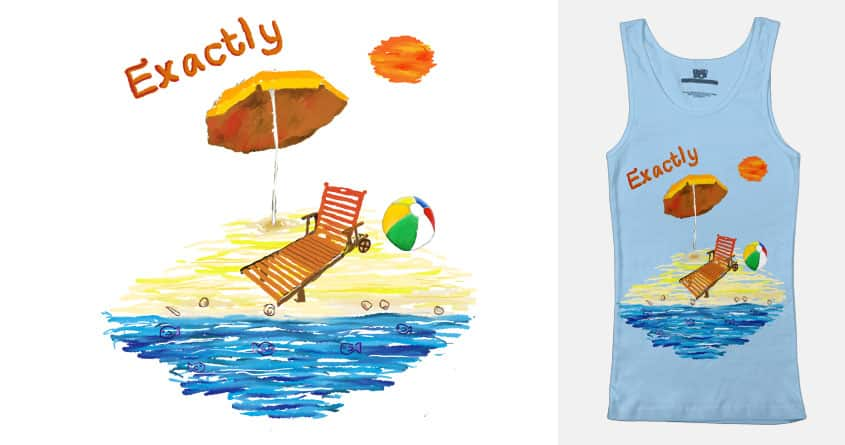 At the beach again by Classic Neptune on Threadless