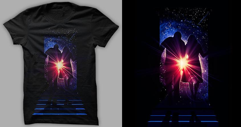 Under The Milky Way Tonight  by nielquisaba on Threadless