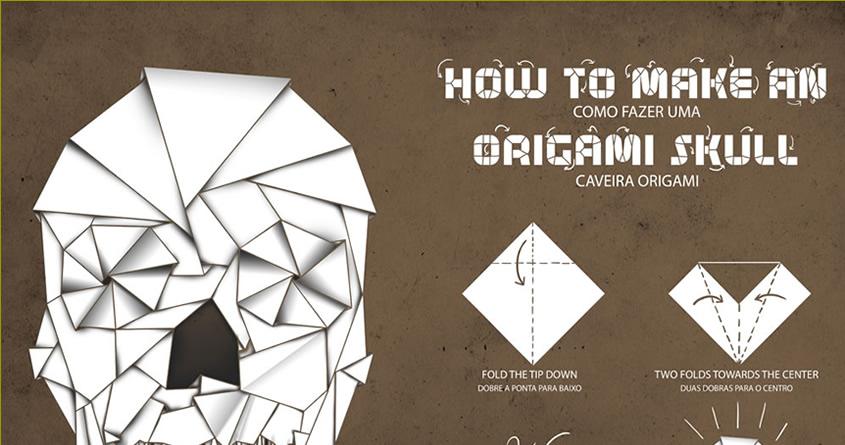 Схема как сделать череп из бумаги