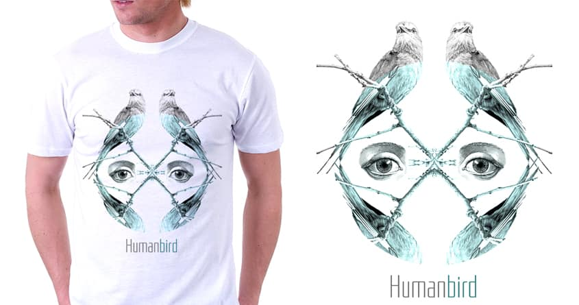 Human Bird by Carlo.Elena on Threadless