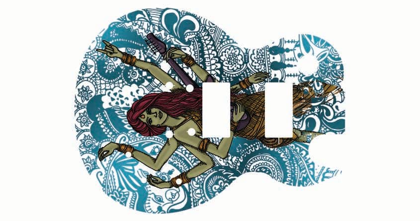 Guitar Godess by MindPhunk on Threadless