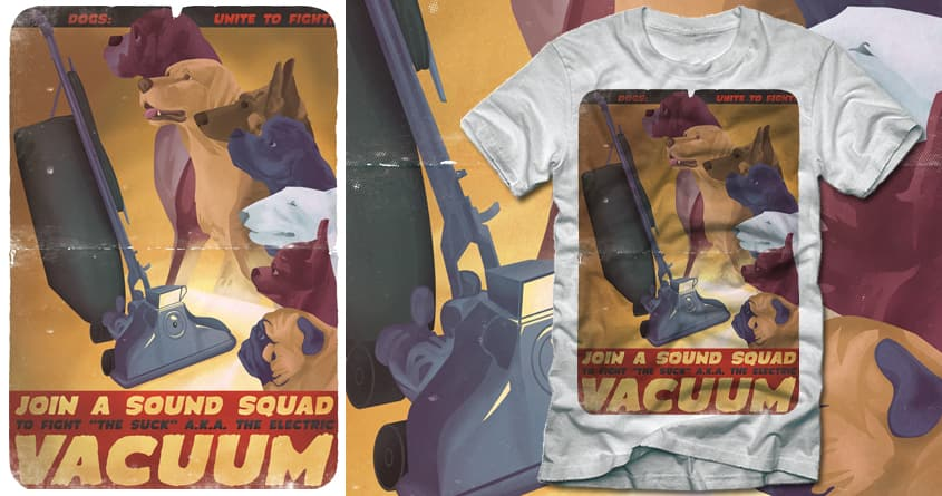 Sound Squad Anti-Vacuum PSA by polynothing on Threadless