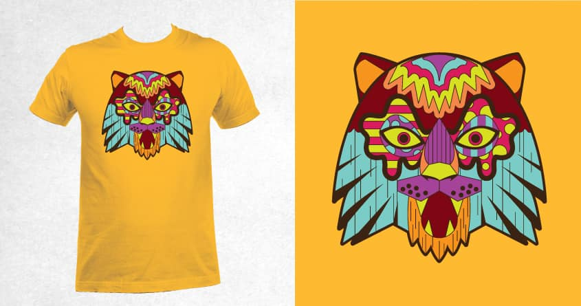 Colorful Tiger by Tanatphong on Threadless