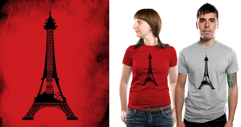 Eiffel Guitar by kooky love on Threadless
