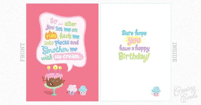 if cakes could talk... by zippyboro on Threadless