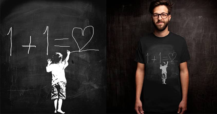 One Plus One Equals Love by ArTrOcItY on Threadless
