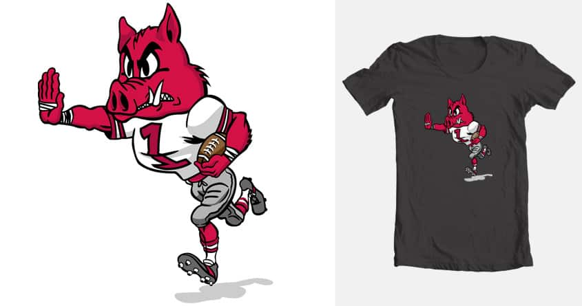 Running Razorback by JoshuaPettigrew on Threadless