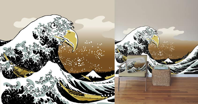 The Great Eagle of Kanagawa by kaloyster on Threadless