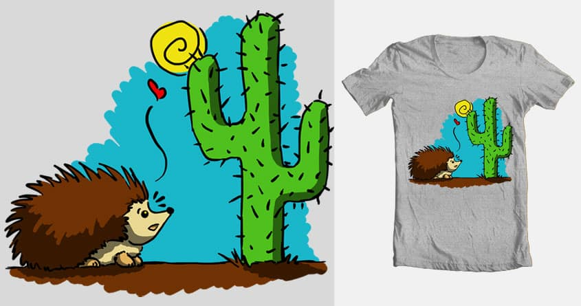 Cactus Love by valentinathebot on Threadless