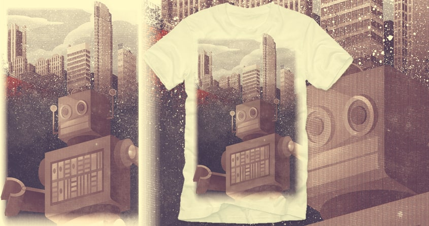 A City Snow-Bot by polynothing on Threadless