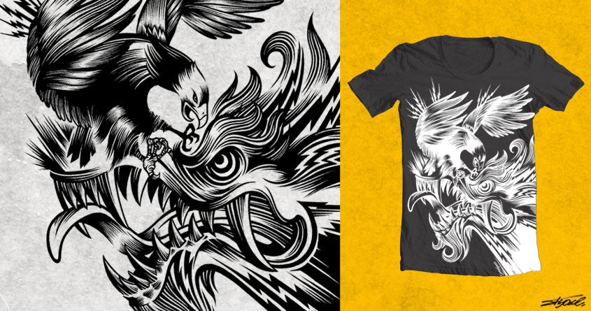 Hawk 'n' Dragon by Flyace on Threadless