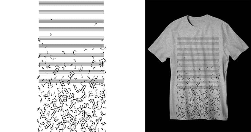 Falling Notes by dampa on Threadless