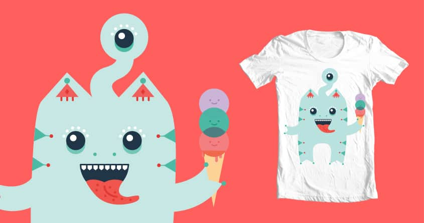 Because what all monsters really want is some ice cream by mhomer on Threadless